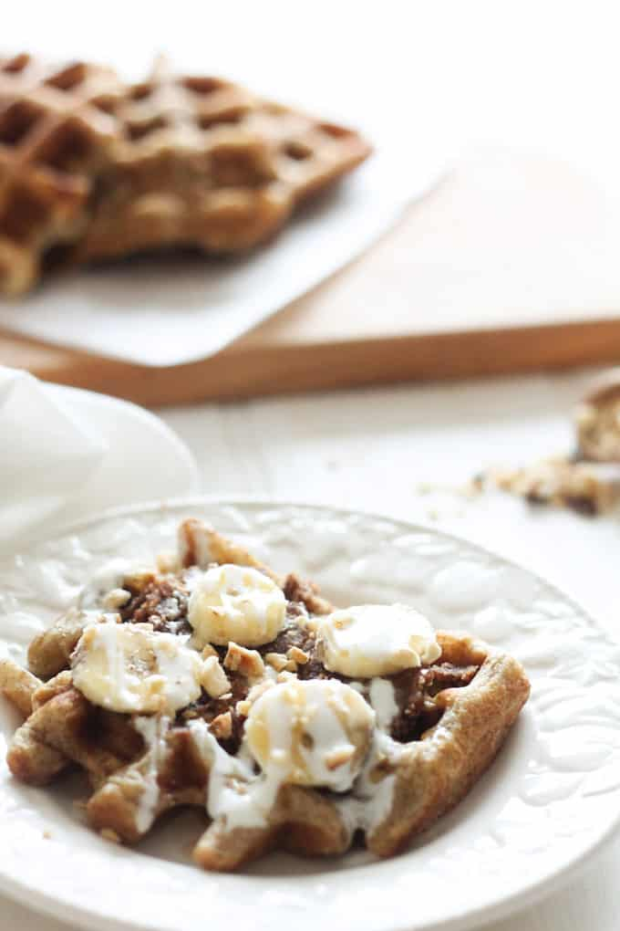 Sourdough Waffles | Raising Sugar Free Kids - how to make a sourdough starter and a recipe for sourdough waffles to make with it. This is our regular Saturday morning breakfast, and we LOVE them! Sugar free, easy to digest, and delicious! :)