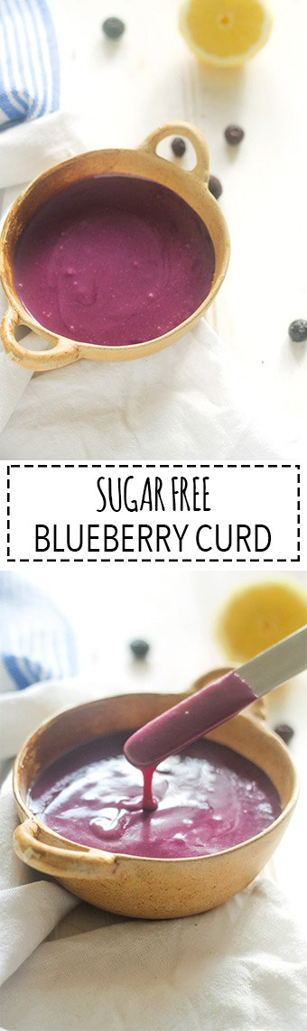 Blueberry Curd | Raising Sugar Free Kids - a creamy, sweet, buttery curd that is packed with antioxidants and completely sugar free. Perfect for pouring or spreading over pancakes, waffles, yogurt or toast!
