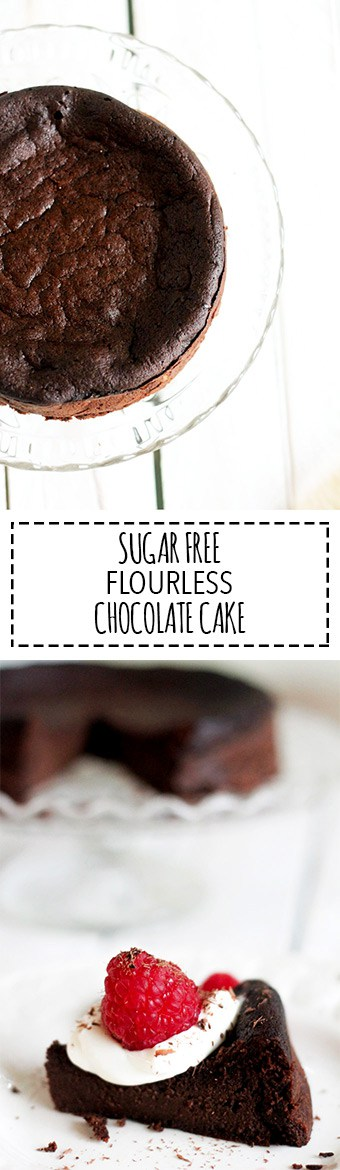 Sugar Free Flourless Chocolate Cake | Raising Sugar Free Kids - a decadent and very rich chocolate cake that is sugar and gluten free, this is the perfect Easter or party cake, or even just an indulgent weekend treat.