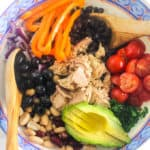 3-Bean Tuna Salad | Raising Sugar Free Kids - delicious, cheap, insanely quick (takes about 1-2 mins to make including prep) and as easy as opening a few cans. This is healthy eating at its cheapest, quickest and easiest, and includes a healthy portion of omega-3-containing oily fish as well!