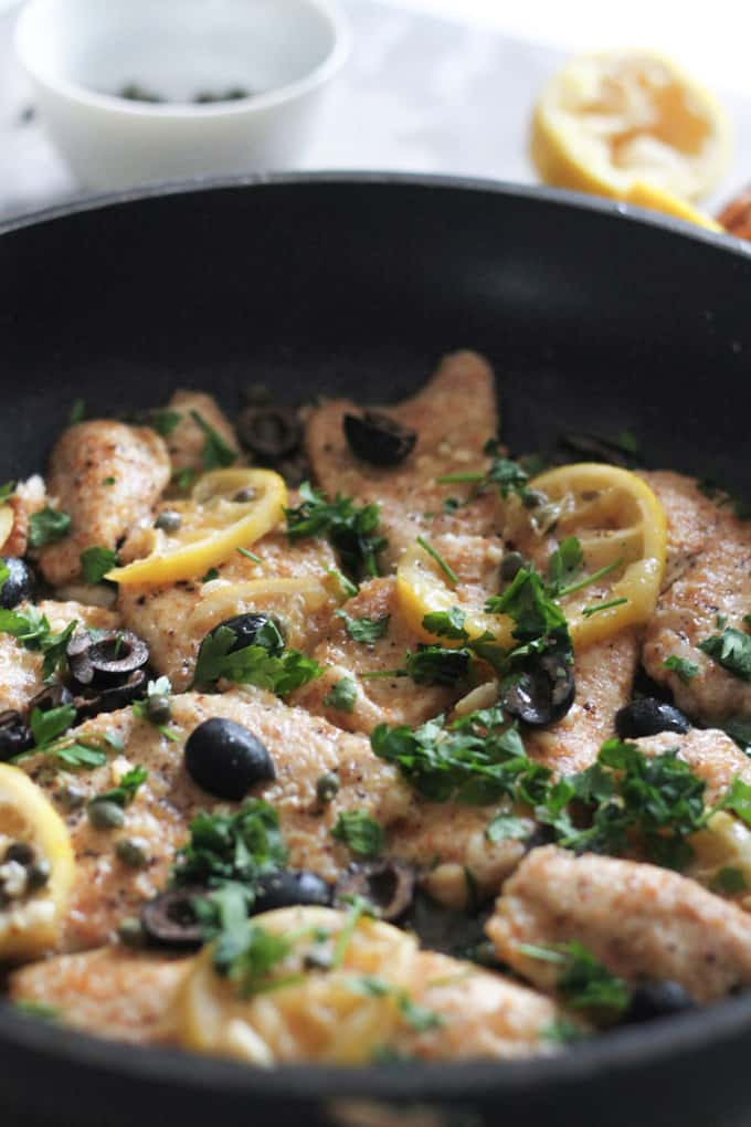 Chicken Piccata | Raising Sugar Free Kids - a delicious lemon butter chicken recipe that is without a doubt the best chicken dish I've ever tasted! It's soft, succulent, decadent, and yet super simple, cheap and quick. Perfect for dinner parties to impress with little effort.