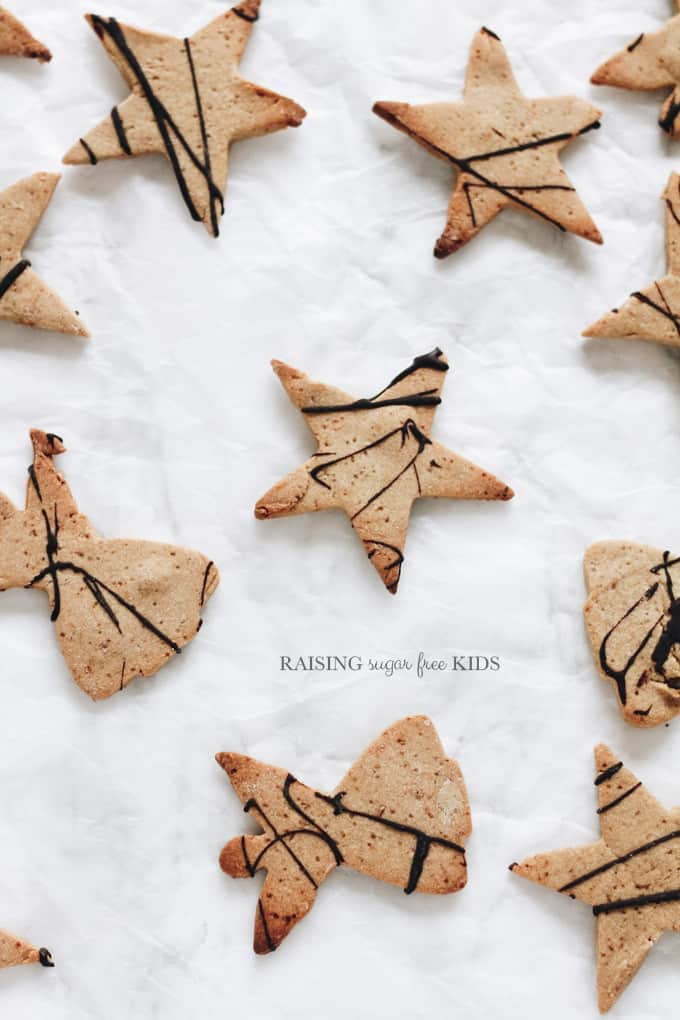 Sugar Free Chestnut Cookies | Raising Sugar Free Kids - sweet and crunchy, this biscuits are a delicious seasonal treat. So easy to make, kids can do most of it and will love every second!