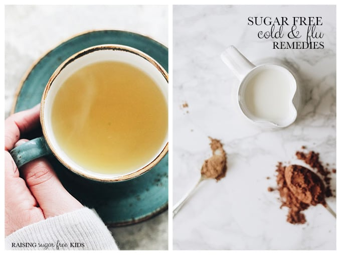 Sugar Free Cold & Flu Remedies | Raising Sugar Free Kids - ways to combat cold & flu symptoms without resorting to honey or other forms of sugar!