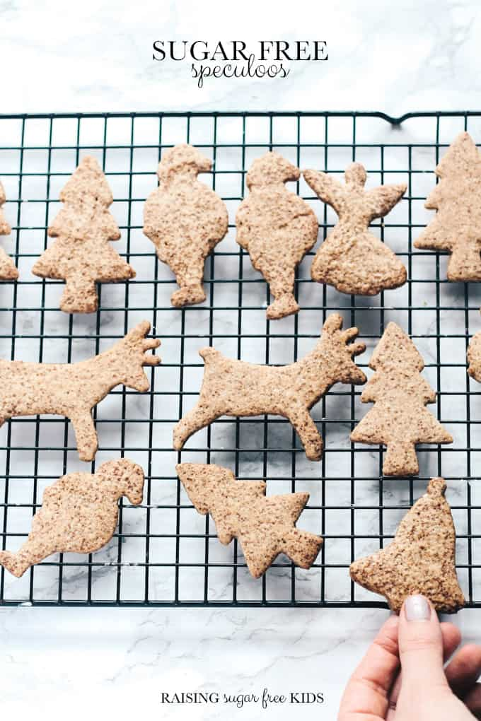 Sugar Free Speculoos | Raising Sugar Free Kids - spiced Christmas biscuits (cookies) traditionally made on St Nicholas' Day, these caramel-y deeply flavoured treats are delicious and warming, perfect for the holiday season. My version is sugar free but tastes exactly the same!