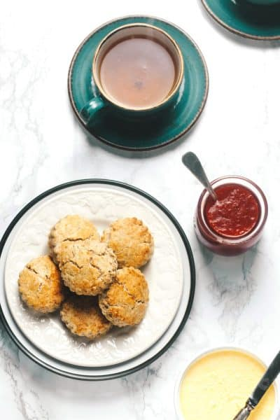 A Sugar Free Valentine's Cream Tea (Scones, Jam, Cream)